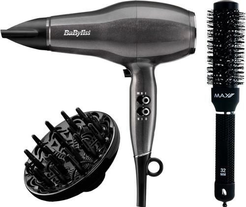BaByliss Platinum Diamond 2300 Fohn D6490DE + Max Pro Ceramic Radial Brush - 32 mm Main Image