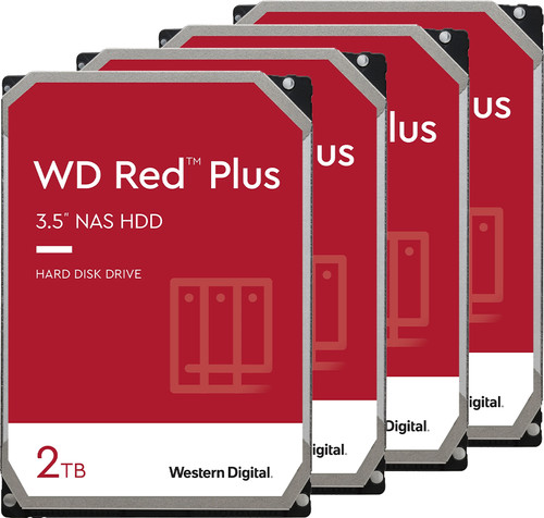 WD Red Plus WD20EFZX 2TB 4-Pack Main Image