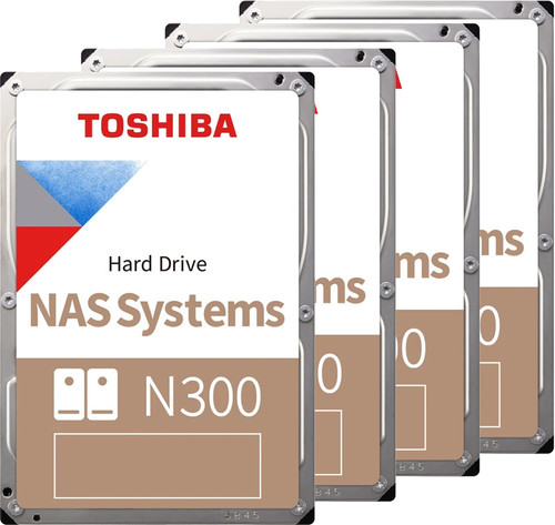 Toshiba N300 NAS Hard Drive 4TB 4-Pack Main Image