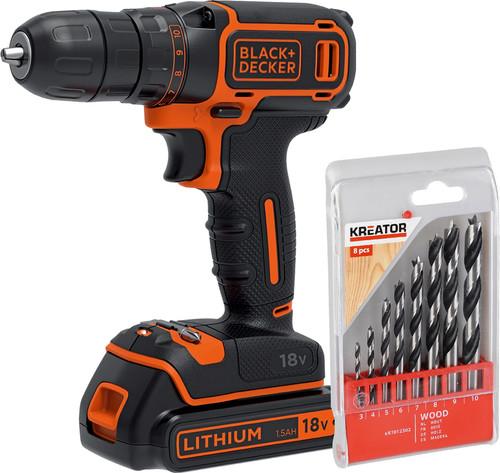 BLACK+DECKER BDCDC18-QW+ 8-piece Drill Set (wood) Main Image