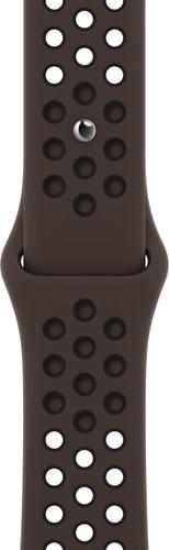 Apple Watch 38/40 mm Siliconen Horlogeband Nike Sport Ironstone/Zwart Main Image