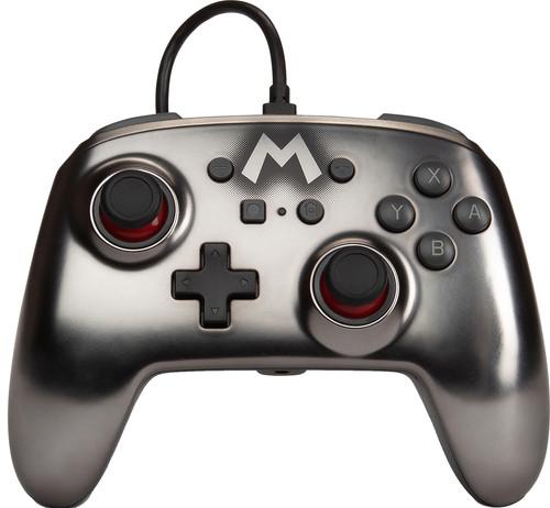 PowerA Enhanced Bedrade Nintendo Switch Controller Mario Zilver Main Image