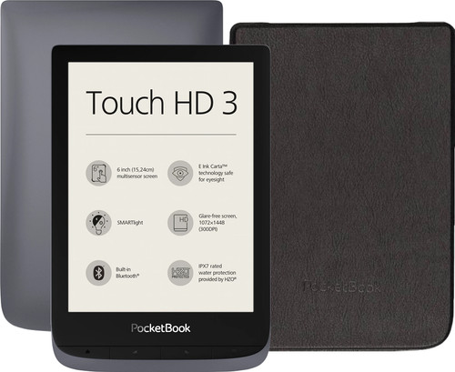 Pocketbook Touch HD 3 Grijs + PocketBook Shell Book Case Zwa Main Image
