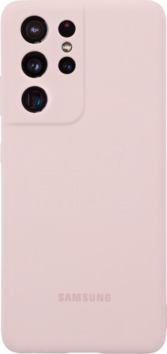 Samsung Galaxy S21 Ultra Siliconen Back Cover Roze Main Image