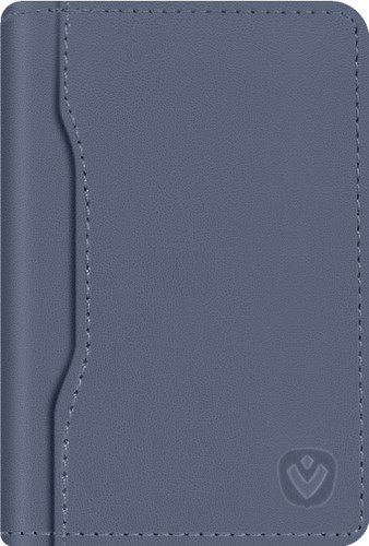 Valenta Snap Card Wallet Leather Blue Main Image
