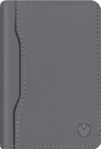 Valenta Snap Card Wallet Leather Gray Main Image
