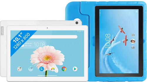 Lenovo Tab M10 2GB 32GB Wifi Wit + Just in Case Kinderhoes Blauw Main Image