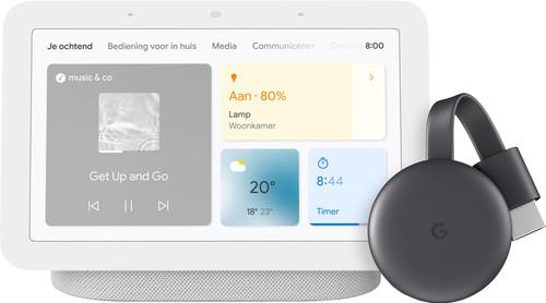 Google Nest Hub 2 Chalk + Google Chromecast 3 Main Image