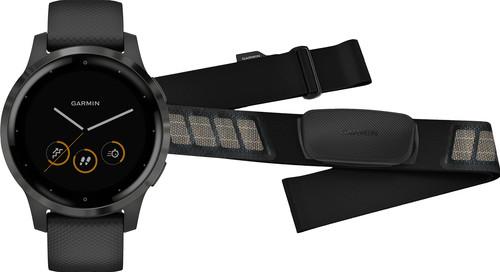 Garmin Vivoactive 4 Zwart 45 mm + Garmin HRM-DUAL Hartslagmeter Borstband Zwart Main Image