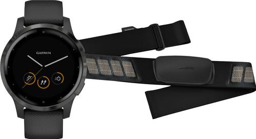 Garmin Vivoactive 4S Zwart 40 mm + Garmin HRM-DUAL Hartslagmeter Borstband Zwart Main Image