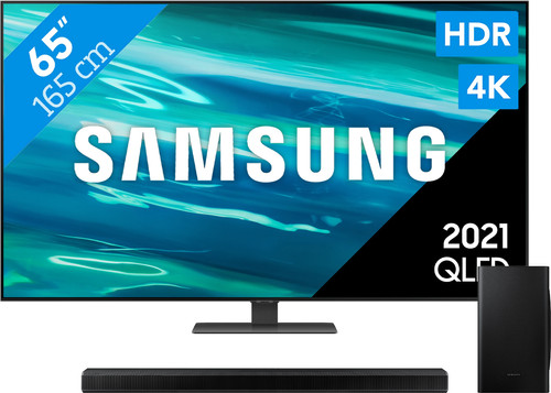 Samsung QLED 65Q80A (2021) + Soundbar Main Image