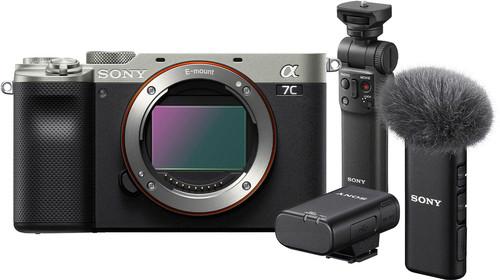 Sony A7C Body Zilver + GP-VPT2BT Grip + ECM-W2BT Microfoon Main Image