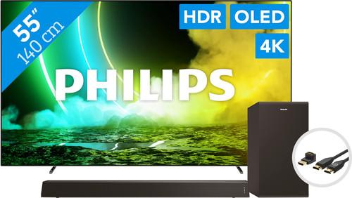 Philips 55OLED705 (2021) + Soundbar + HDMI kabel Main Image