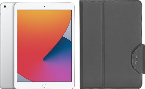 Apple iPad (2020) 10.2 inches 128GB WiFi Silver + Targus VersaVu Book Case Black Main Image
