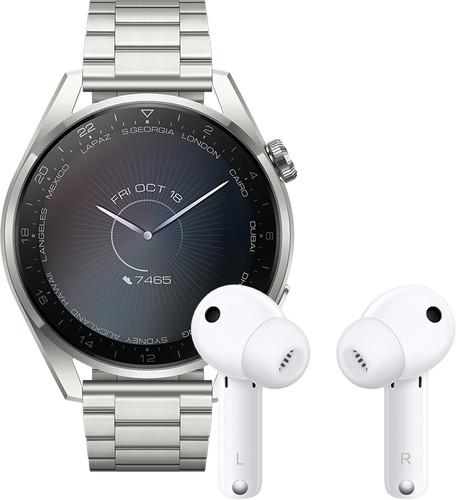 Huawei Watch 3 Pro Elite 4G Zilver/Zilver 49mm met oordopjes Main Image