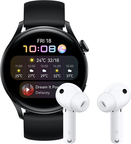 Huawei Watch 3 Active 4G Black/Black 46mm with Earbuds Main Image