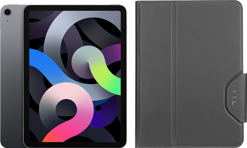 Apple iPad Air (2020) 10.9 inch 64 GB Wifi Space Gray + Targus VersaVu Book Case Main Image