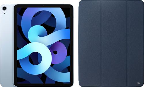 Apple iPad Air (2020) 10.9 inch 64 GB Wifi Hemelsblauw + Xqisit Piave Book Case Blauw Main Image