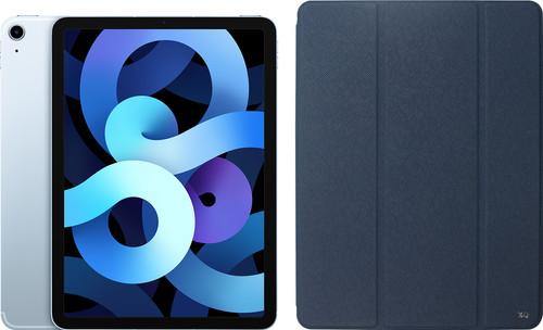 Apple iPad Air (2020) 10.9 inch 64 GB Wifi + 4G Hemelsblauw + Xqisit Piave Book Case Blauw Main Image