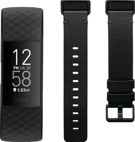 Fitbit Charge 4 Zwart + Fitbit Charge 4 Leren Bandje Zwart S Main Image