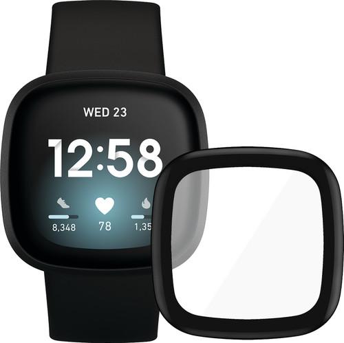 Fitbit Versa 3 Zwart + PanzerGlass Fitbit Sense, Versa 3 Screenprotector Glas Zwart Main Image