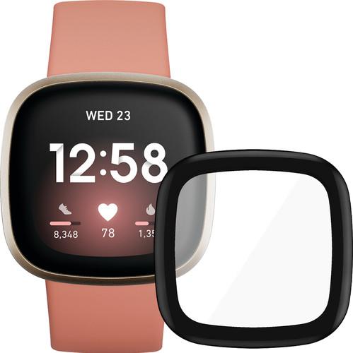 Fitbit Versa 3 Roze/Goud + PanzerGlass Fitbit Sense, Versa 3 Screenprotector Glas Zwart Main Image
