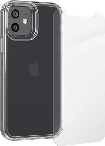 InvisibleShield Glass Elite+ iPhone 12 (Pro) Screen Protector + Tech21 Evo Clear Back Cove Main Image