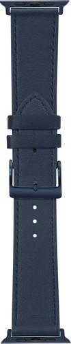 DBramante1928 Copenhagen Apple Watch 42/44mm Leather Strap Blue Main Image
