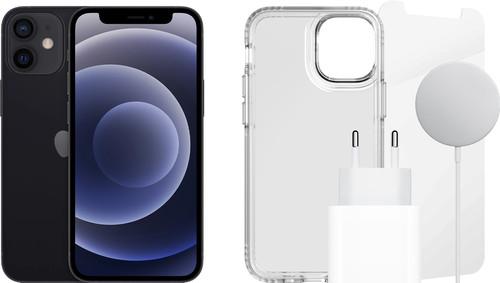 Apple iPhone 12 mini 128GB Zwart + Accessoirepakket Compleet Main Image