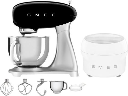 SMEG SMF02BLEU Black + Ice Cream Maker Main Image