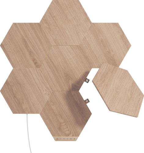 Nanoleaf Elements Wood Look Hexagons Starter Kit 7-Pack Main Image
