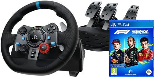 Logitech G29 Driving Force + F1 2021 PS4 Main Image