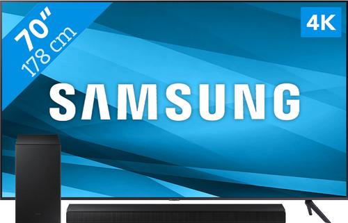 Samsung Crystal UHD 70AU7100 (2021) + Soundbar Main Image