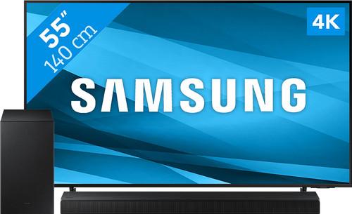 Samsung Crystal UHD 55AU8000 (2021) + Soundbar Main Image