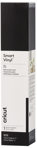 Cricut Smart Vinyl Verwijderbaar 33x640 Zwart Main Image