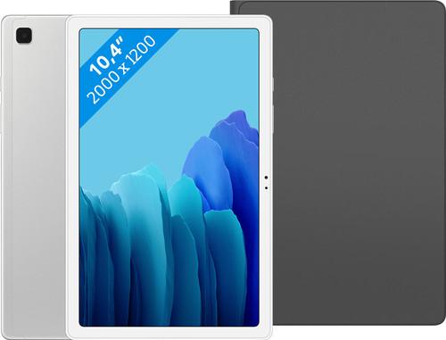 Samsung Galaxy Tab A7 64GB Wifi Zilver + Samsung Book Case Zwart Main Image