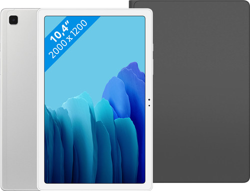 Samsung Galaxy Tab A7 32GB Wifi Zilver + Samsung Book Case Zwart Main Image