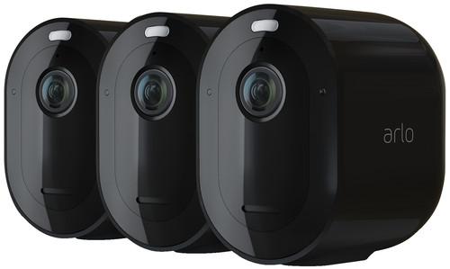 Arlo Pro 4 Spotlight Zwart 3-Pack Main Image