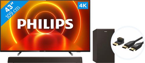 Philips 43PUS7805 - Ambilight + Soundbar + HDMI Cable Main Image
