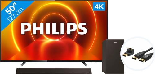 Philips 50PUS7805 - Ambilight + Soundbar + HDMI Cable Main Image