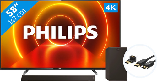 Philips 58PUS7805 - Ambilight + Soundbar +  HDMI kabel Main Image