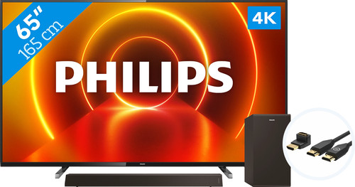 Philips 65PUS7805 - Ambilight + Soundbar + HDMI Cable Main Image