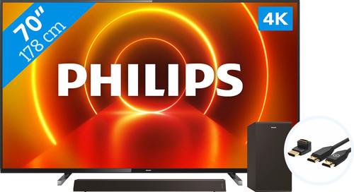 Philips 70PUS7805 - Ambilight + Soundbar + HDMI kabel Main Image
