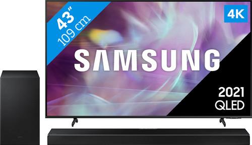 Samsung QLED 43Q64A (2021) + Soundbar Main Image