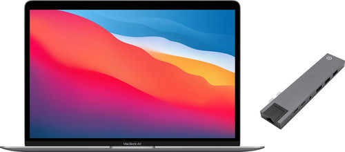 Apple MacBook Air (2020) 16GB/512GB Apple M1 Space Gray + Bluebuilt Docking Station Main Image