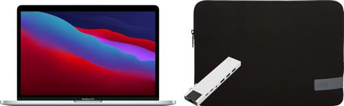 "Apple MacBook Pro 13"" (2020) 16GB/256GB Apple M1 Zilver + Docking Station + Laptophoes Main Image"