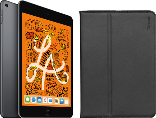 Apple iPad Mini 5 256 GB Wifi Space Gray + Targus Click-in Book Case Main Image