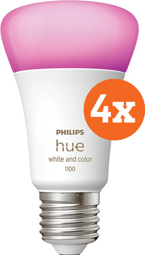 Philips Hue White & Color E27 10.5W 4-pack Main Image