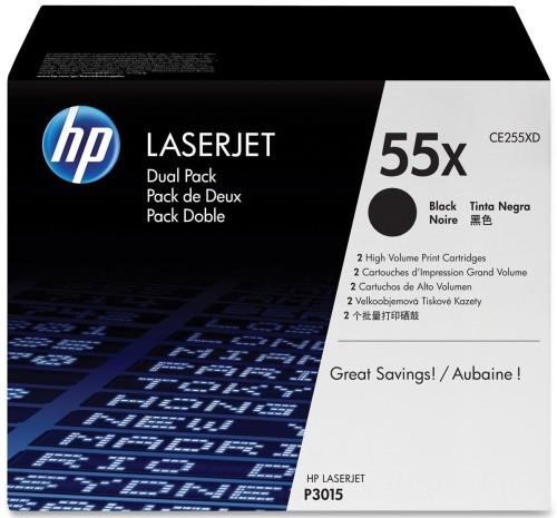 HP 55XD LaserJet Toner Black Dual Pack (CE255XD) Main Image