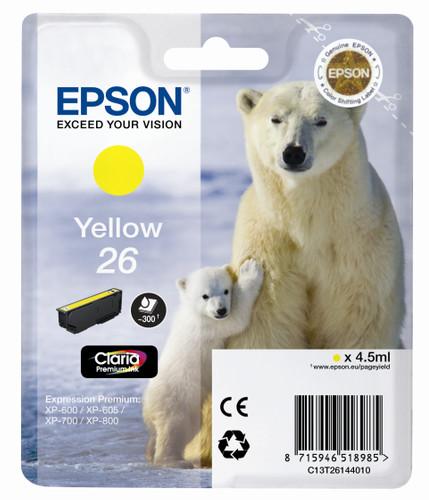 Epson 26 L Cartridge Yellow (C13T26144010) Main Image